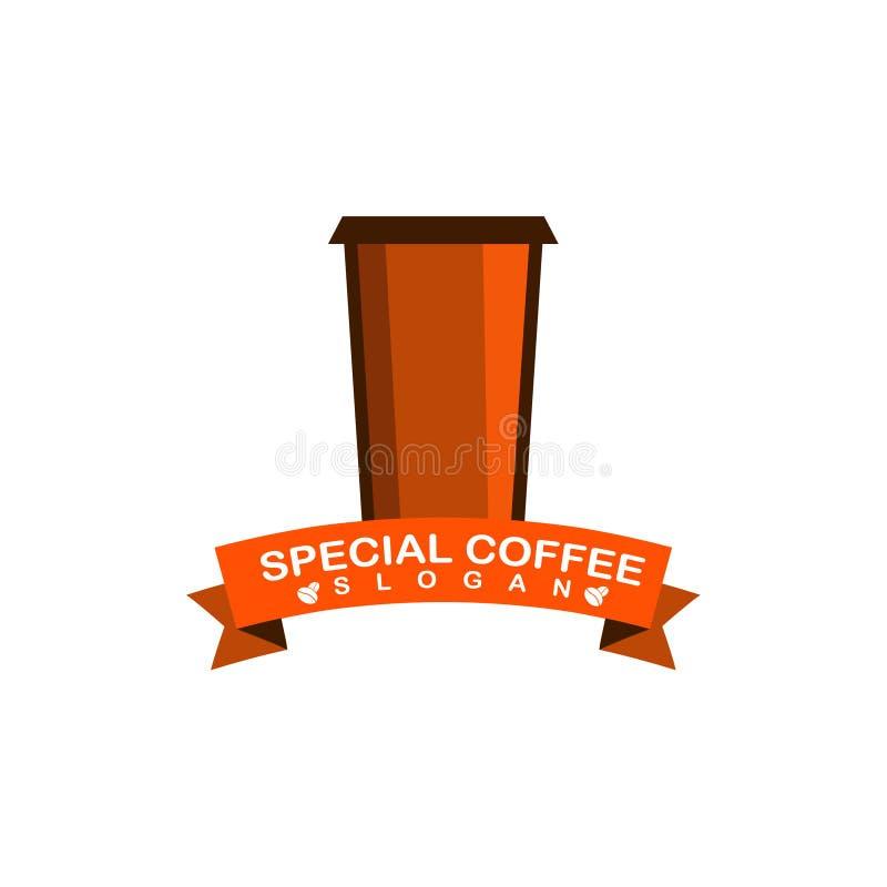 Spezielles Kaffee-Logo lizenzfreie abbildung