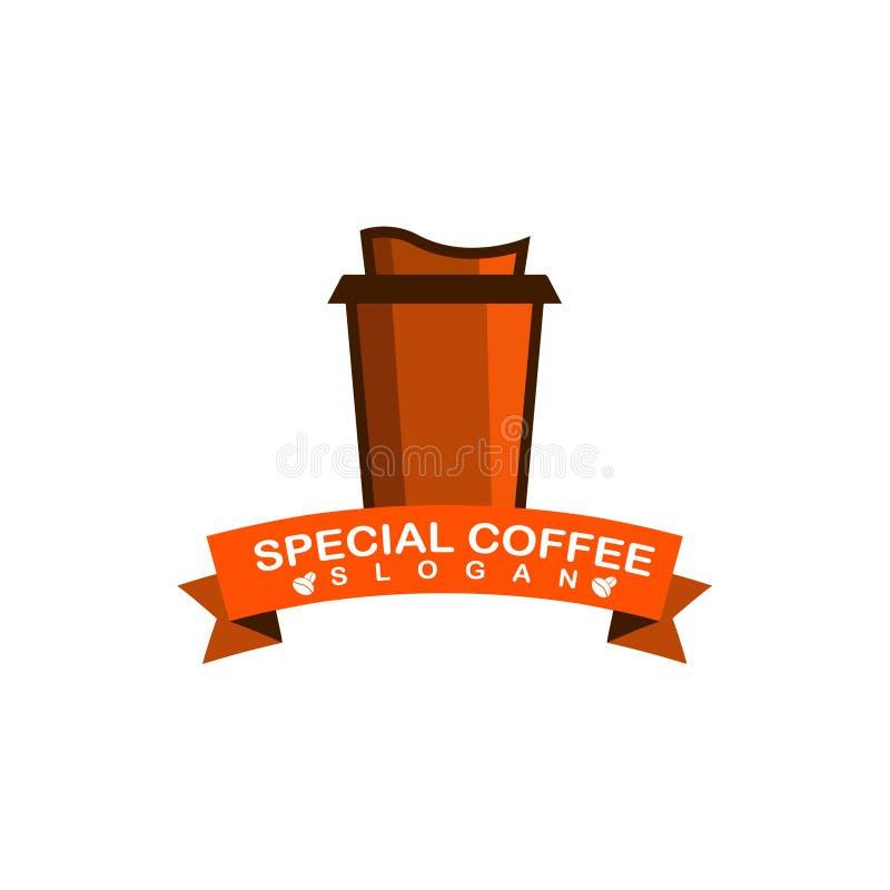 Spezielles Kaffee-Logo vektor abbildung