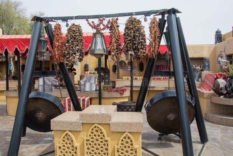 Spezies im arabischen Restaurant lizenzfreies stockbild