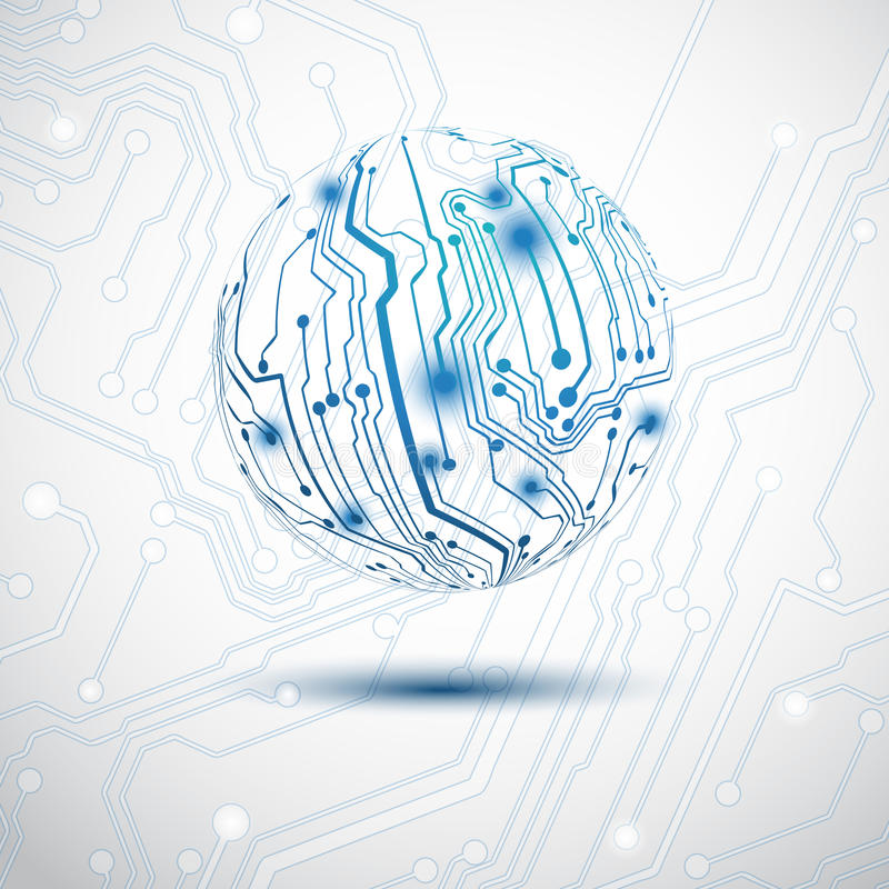 Sphère électrique illustration libre de droits