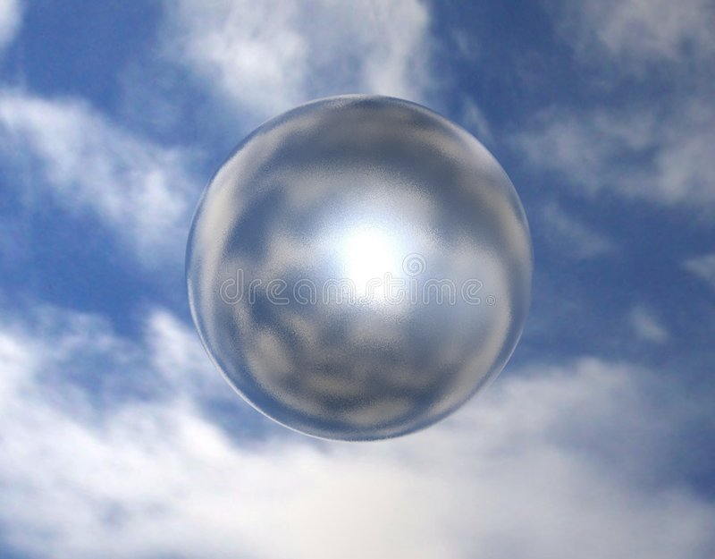 Sphère 002 de miroir illustration de vecteur
