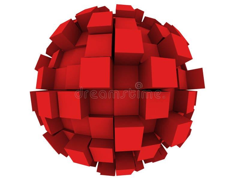Sphère 3d abstraite illustration stock
