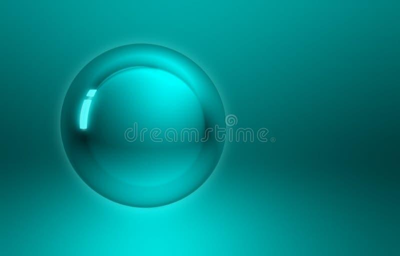 Sphère abstraite de bouton de vert bleu illustration stock