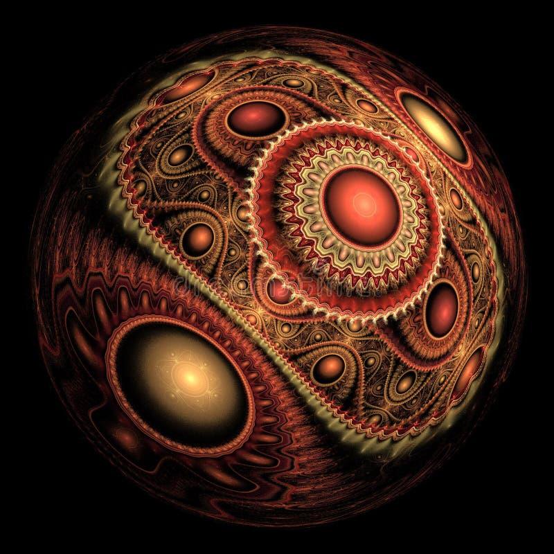 Sphère abstraite de fractale illustration stock
