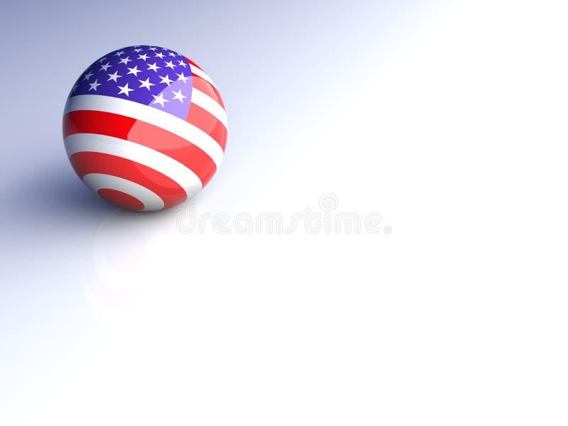 sphère américaine illustration libre de droits