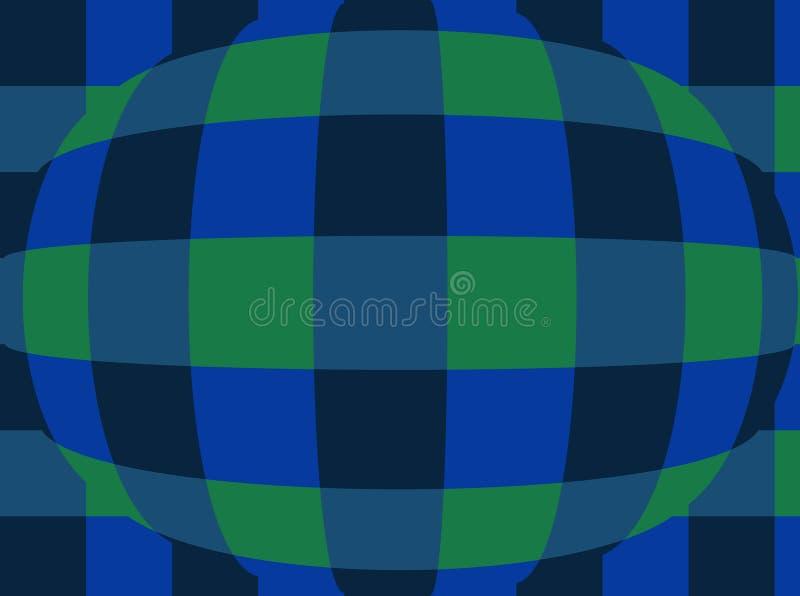 Sphère avec des contrôleurs Fond très beau et original ! illustration libre de droits
