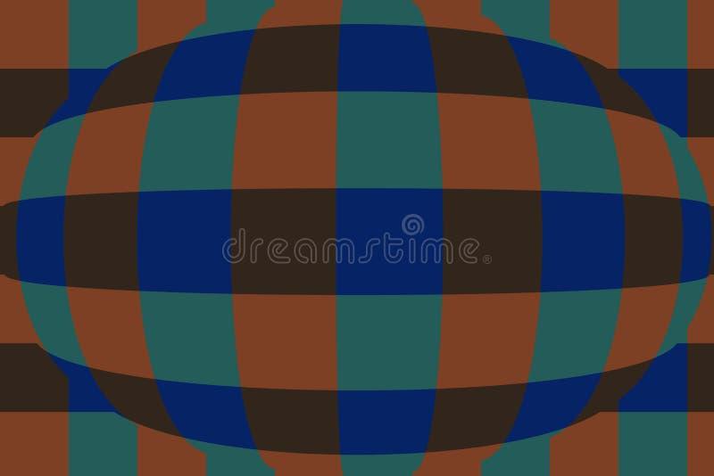 Sphère avec des contrôleurs Fond très beau et original ! illustration stock