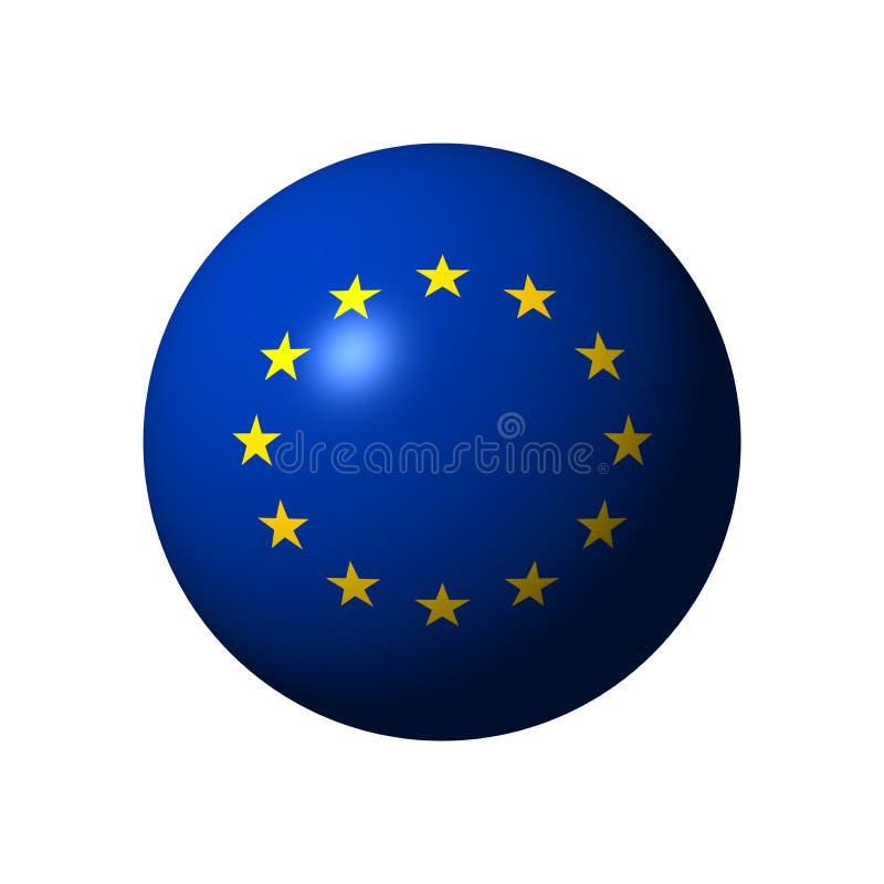 Sphère avec le drapeau de l'UE illustration libre de droits