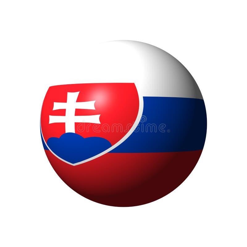 Sphère avec le drapeau de la Slovaquie illustration libre de droits