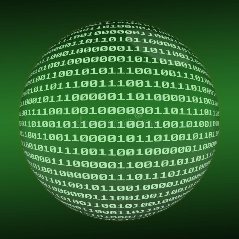 Sphère binaire illustration libre de droits