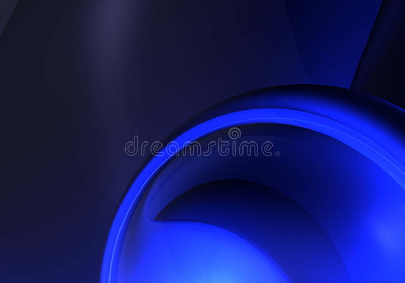 Sphère bleue 01 illustration stock