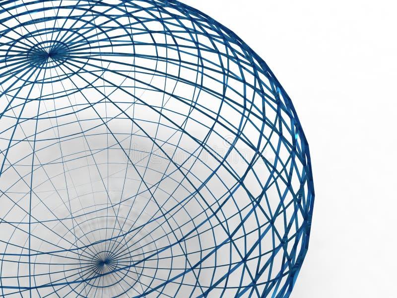 Sphère bleue de fil illustration libre de droits