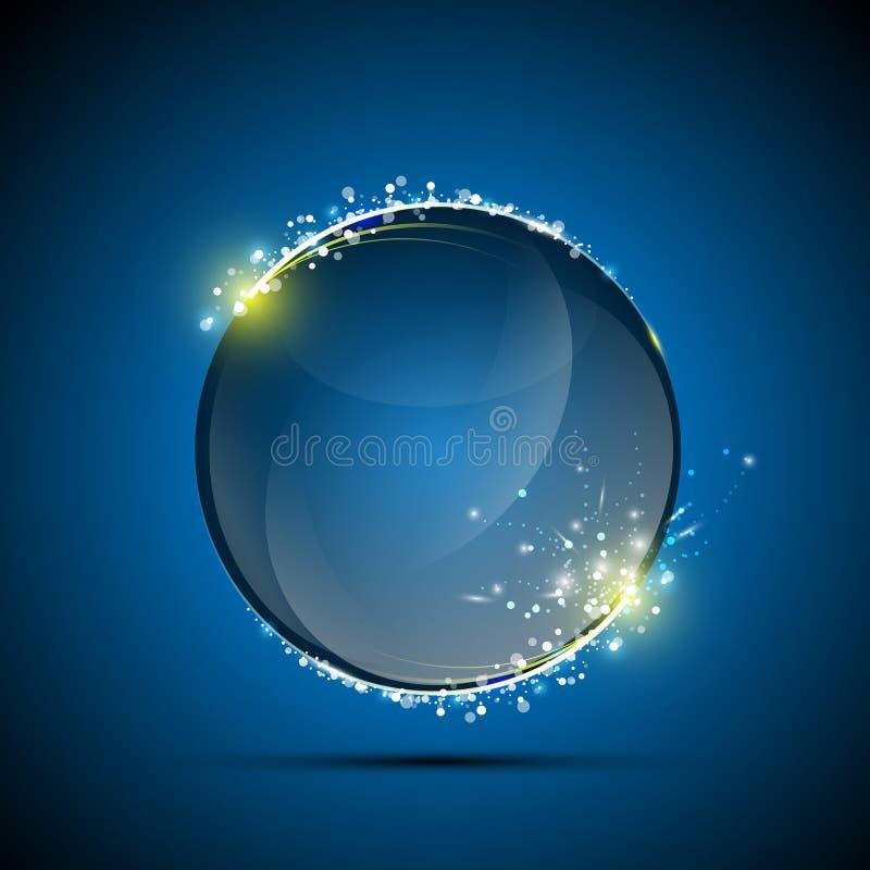Sphère brillante abstraite de vecteur éclatant illustration stock