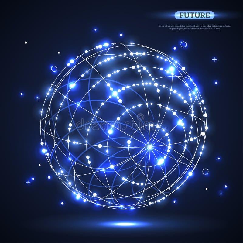 Sphère brillante abstraite de vecteur illustration de vecteur