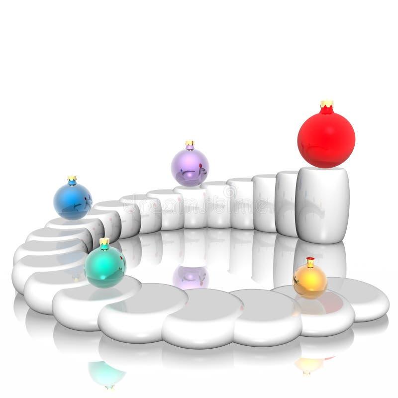 sphère d'échelle de Noël illustration stock