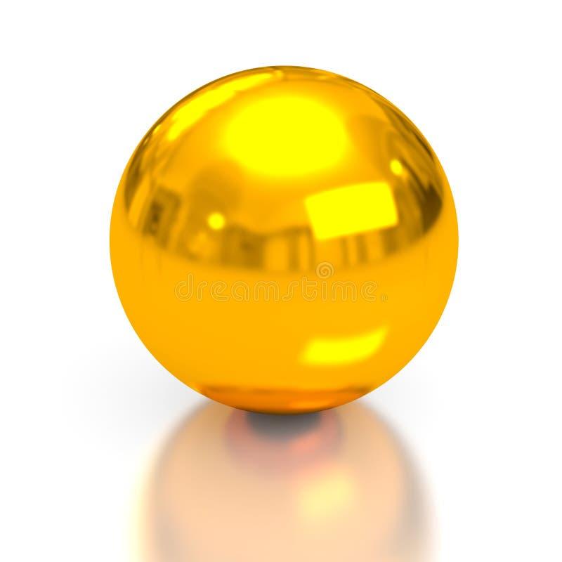 Sphère d'or illustration de vecteur