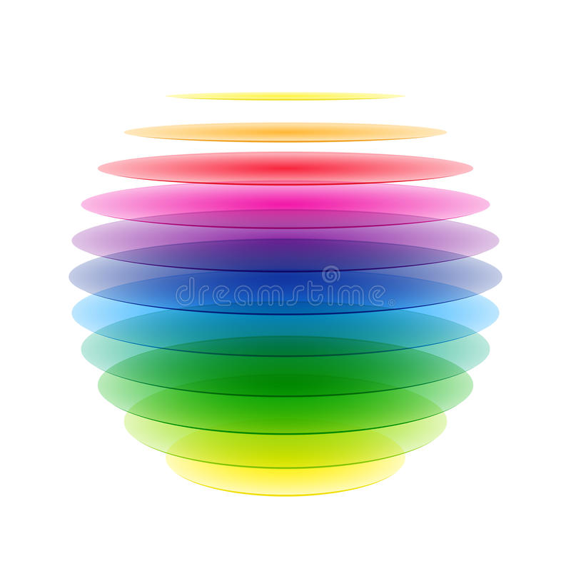 Sphère d'arc-en-ciel illustration de vecteur