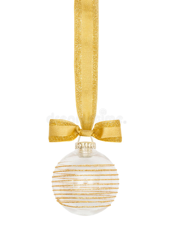 Sphère d'or de Noël images libres de droits