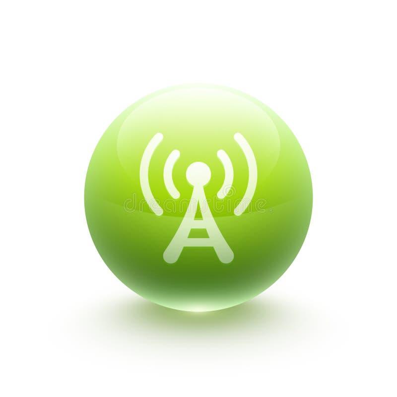 Sphère d'icône d'antenne illustration stock