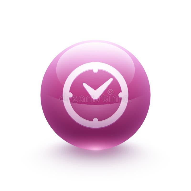 Sphère d'icône d'horloge illustration de vecteur