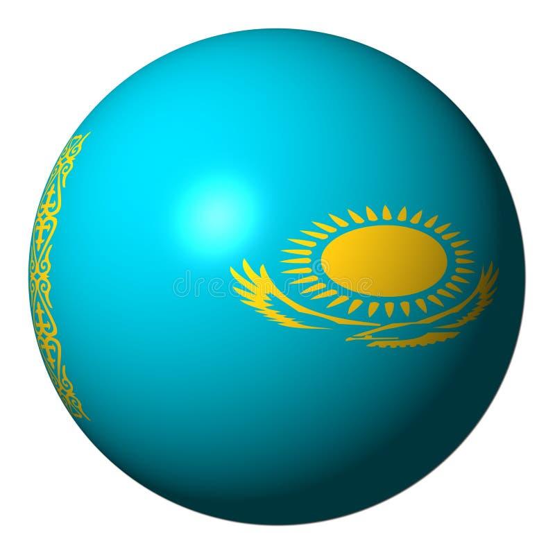 Sphère d'indicateur de Kazakhstan illustration de vecteur