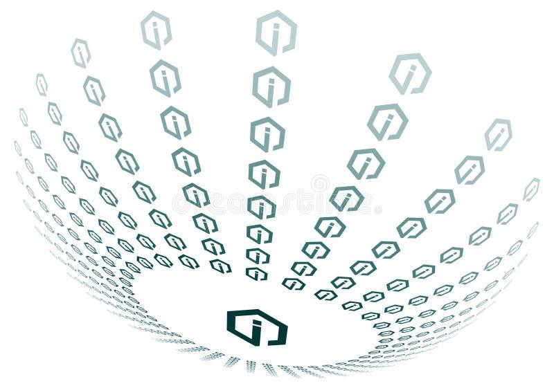 sphère d'information de graphisme illustration de vecteur