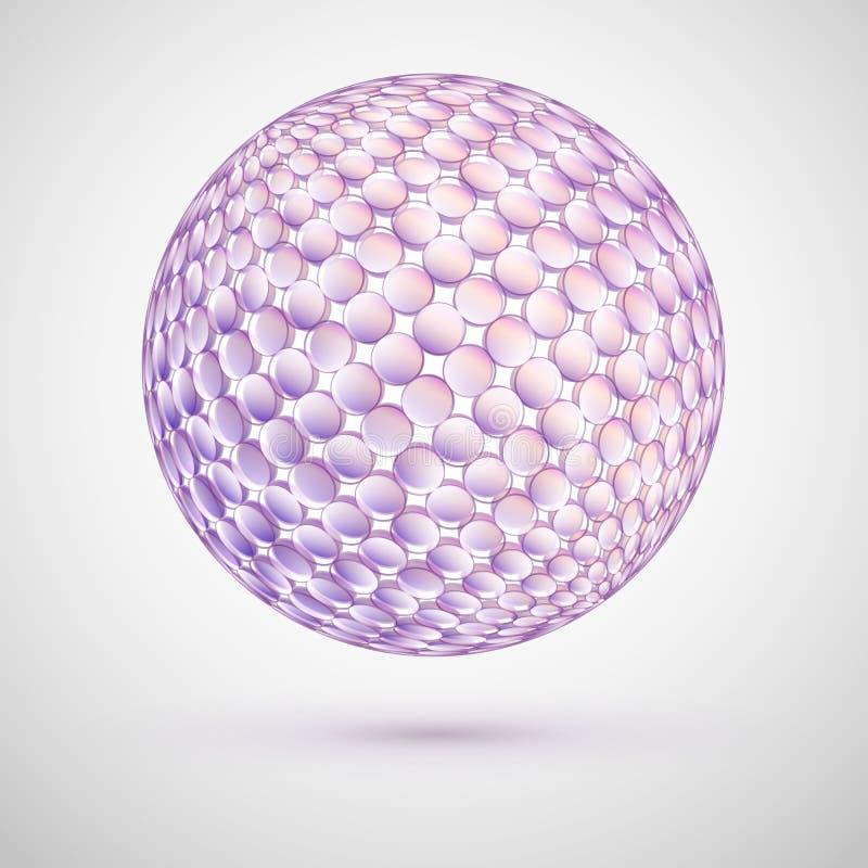 Sphère 3d sensible de couleurs en pastel illustration de vecteur