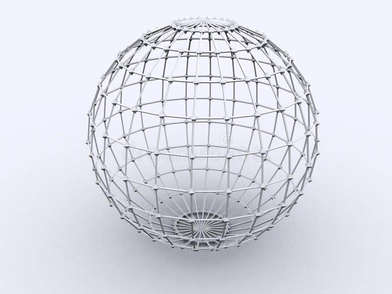 Sphère dans le trellis illustration libre de droits