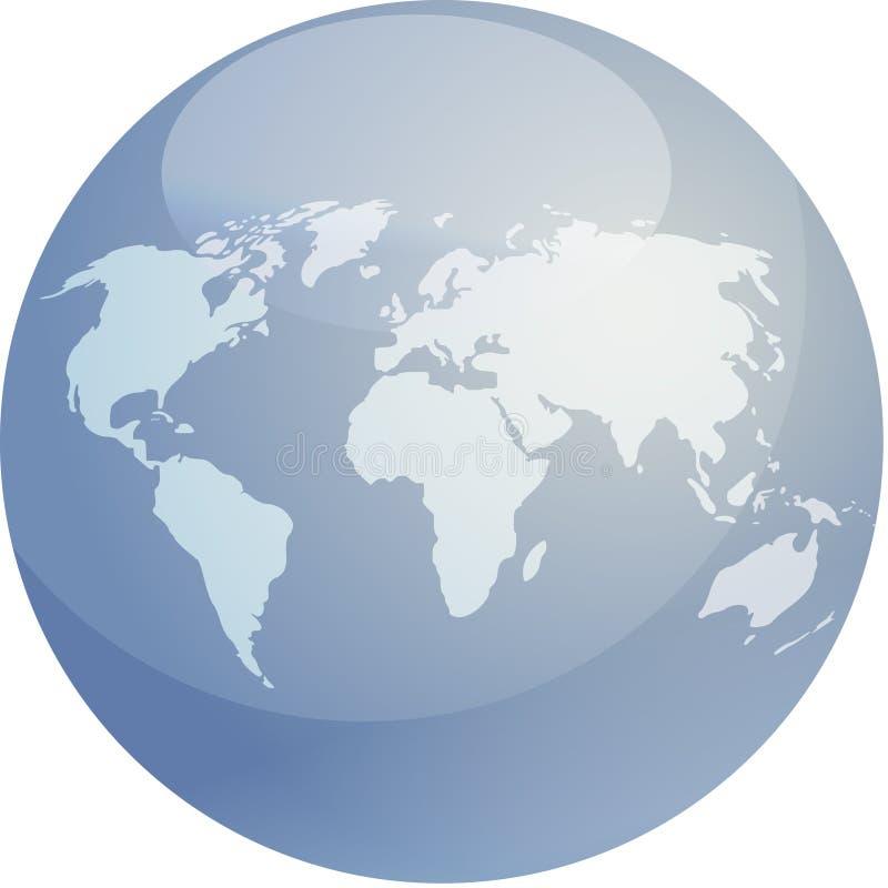 Sphère de carte illustration stock