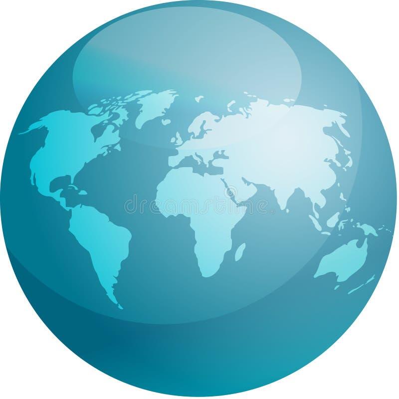 Sphère de carte illustration libre de droits