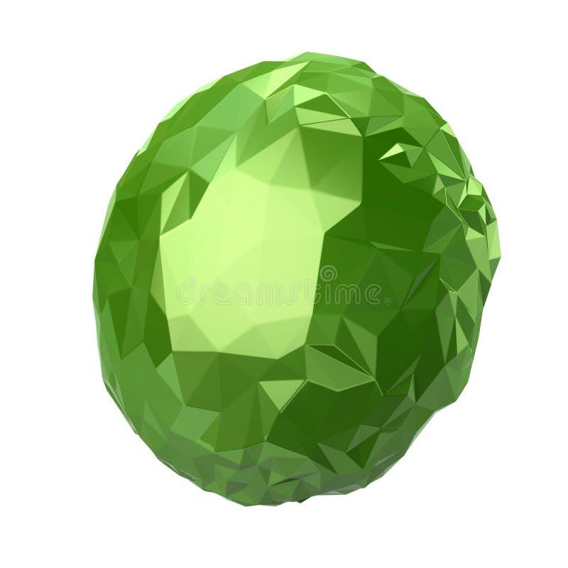 sphère de cristal de vert de l'illustration 3d illustration stock