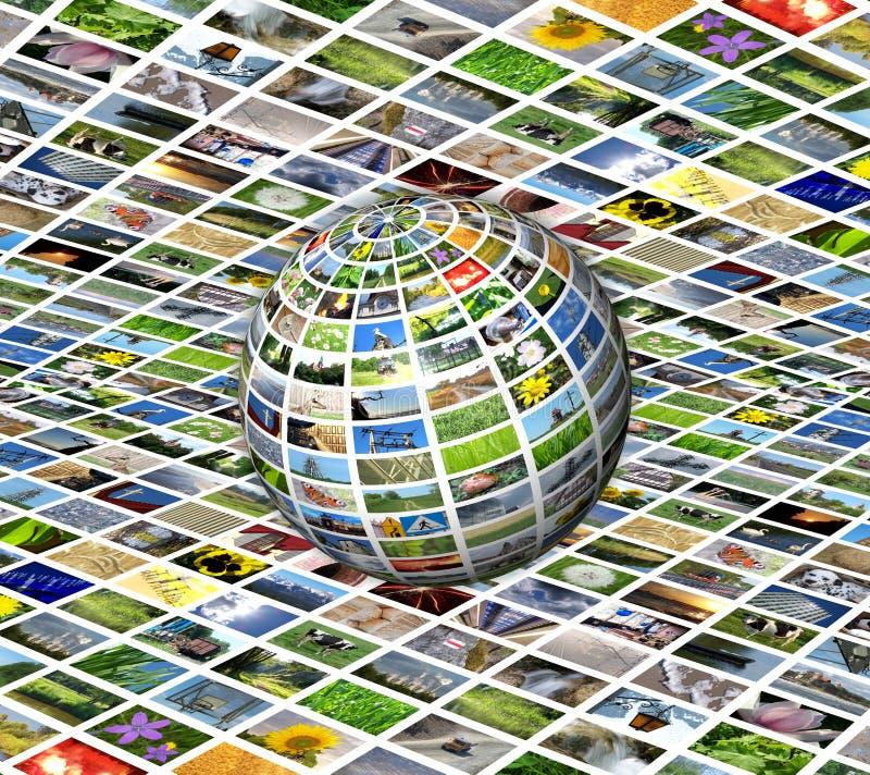 Sphère de multimédia illustration de vecteur