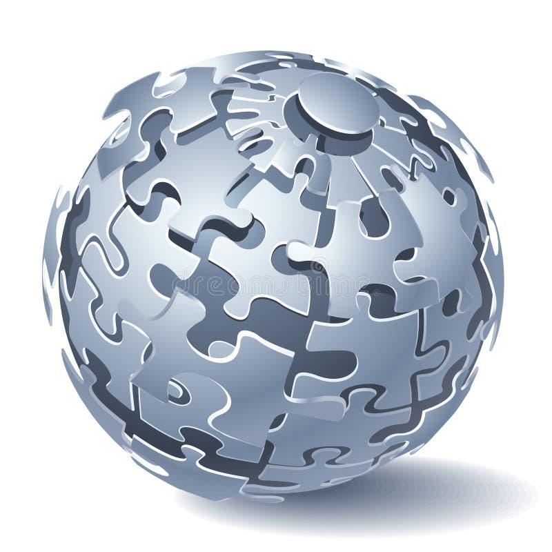 Sphère de puzzle denteux illustration libre de droits