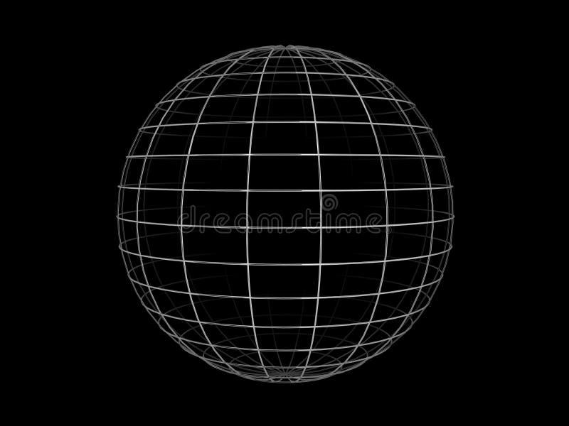 Sphère de trame de fil illustration libre de droits