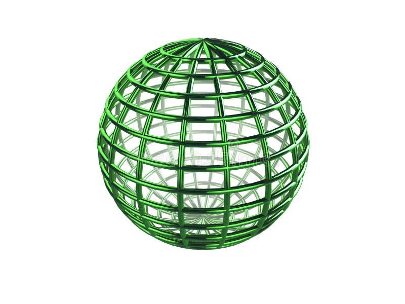 Sphère de Wireframe illustration libre de droits
