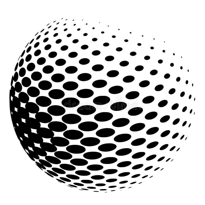 Sphère des points tramés illustration stock