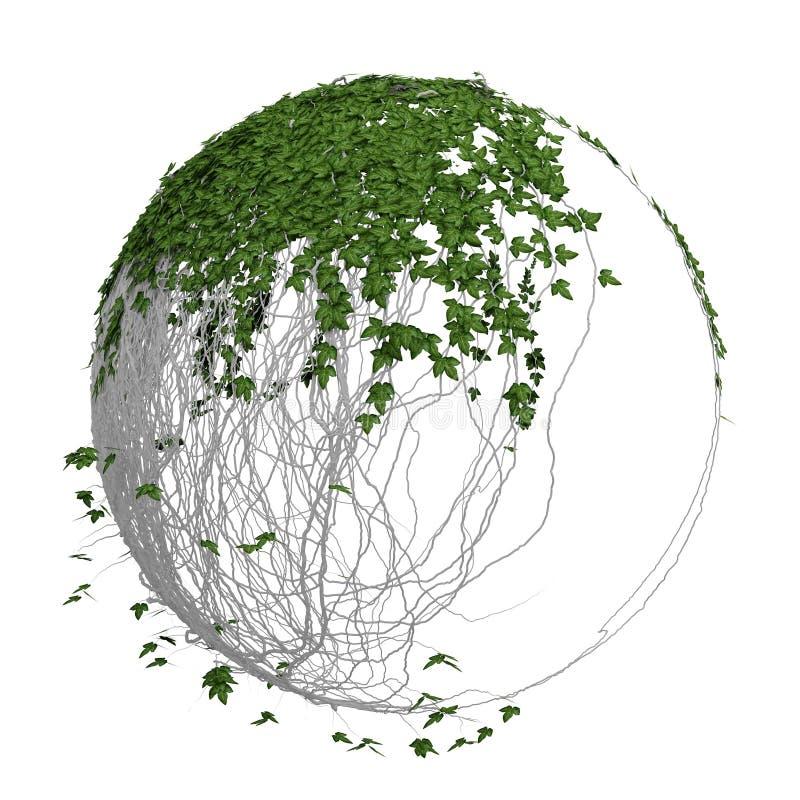 sphère du lierre 3d illustration stock