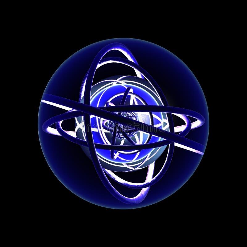 Sphère dynamique - niveau 2 illustration stock