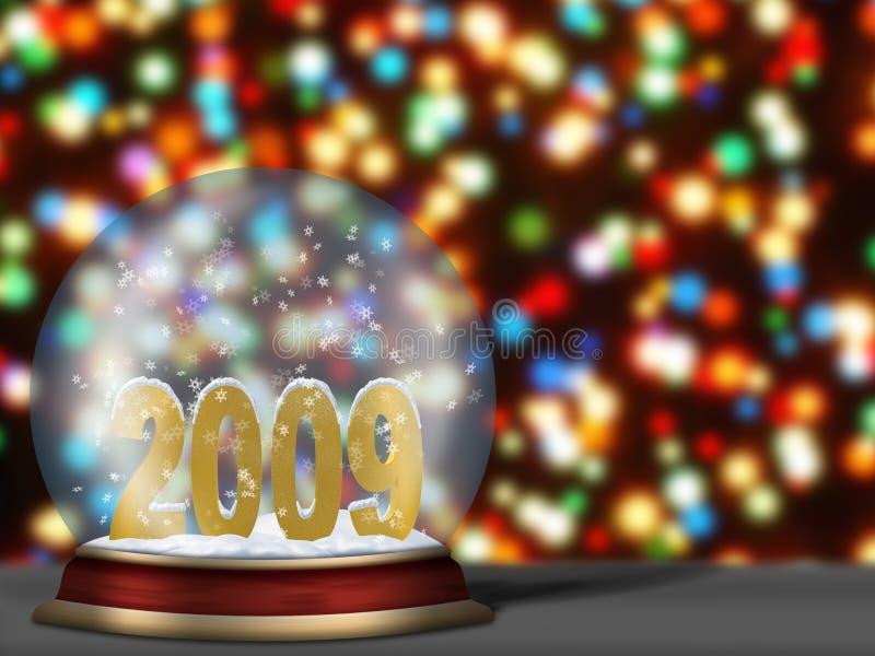 Sphère en verre avec 2009 illustration libre de droits