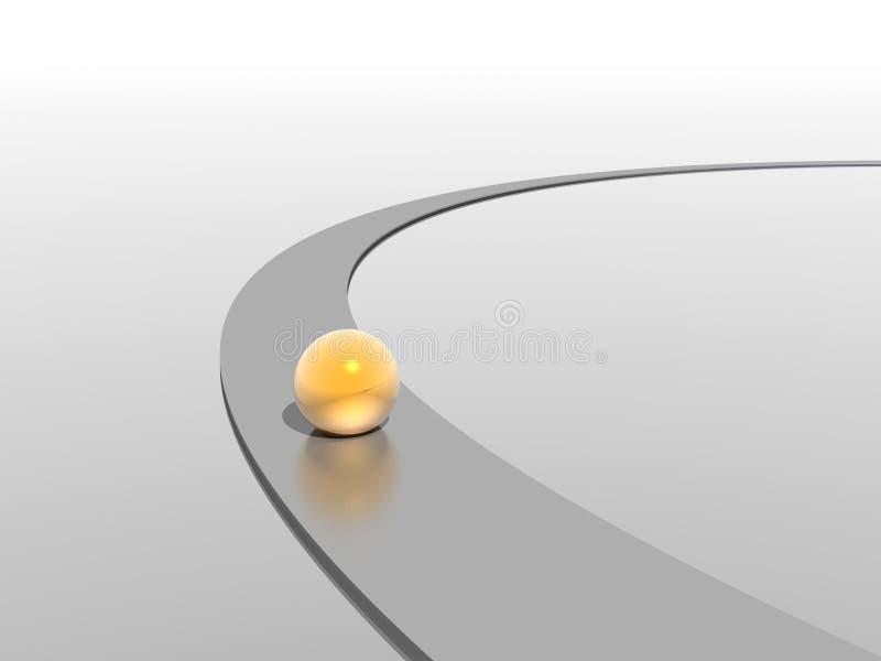 Sphère et voie illustration de vecteur