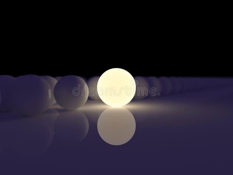 Sphère luminescente illustration stock