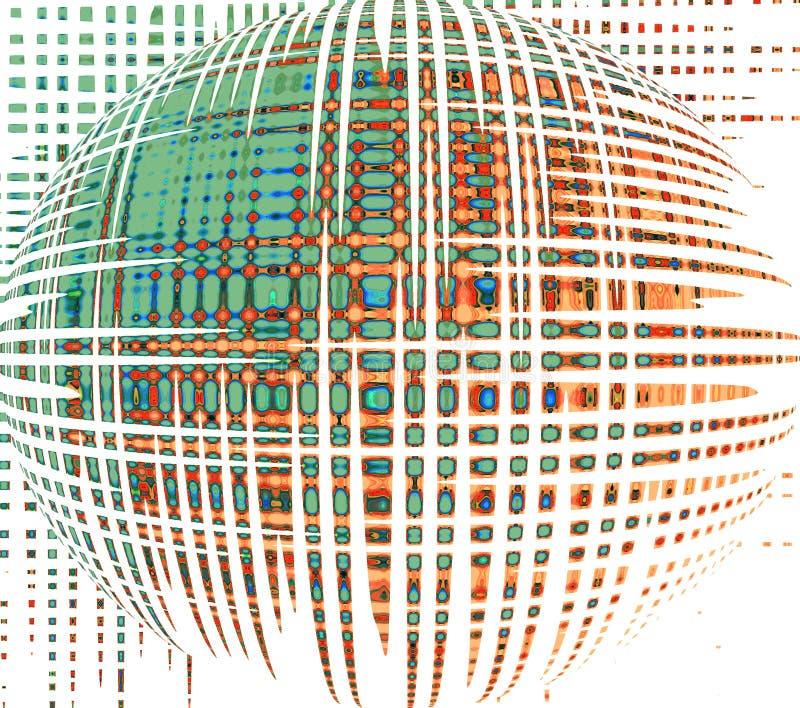 Sphère magique Fond futuriste illustration stock