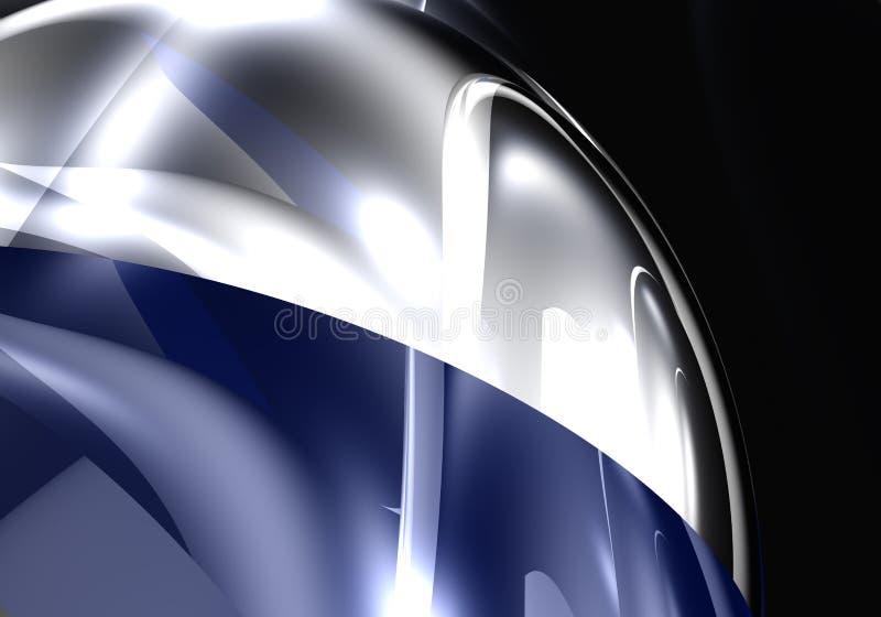 Sphère mettalic bleue illustration de vecteur