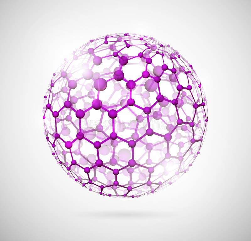 Sphère moléculaire illustration libre de droits