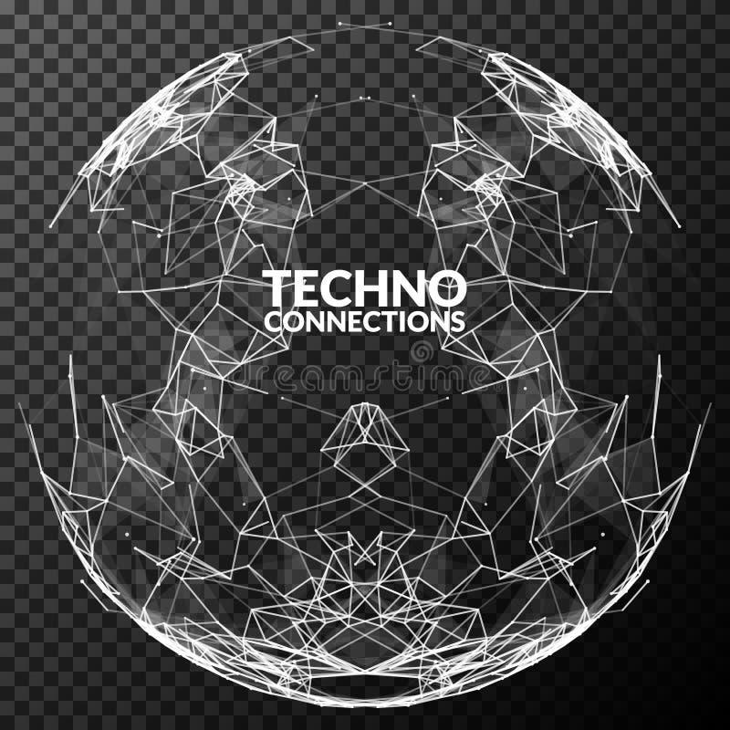 Sphère polygonale de maille de vecteur abstrait Concept futuriste de technologie Fond pour des présentations d'affaires illustration de vecteur