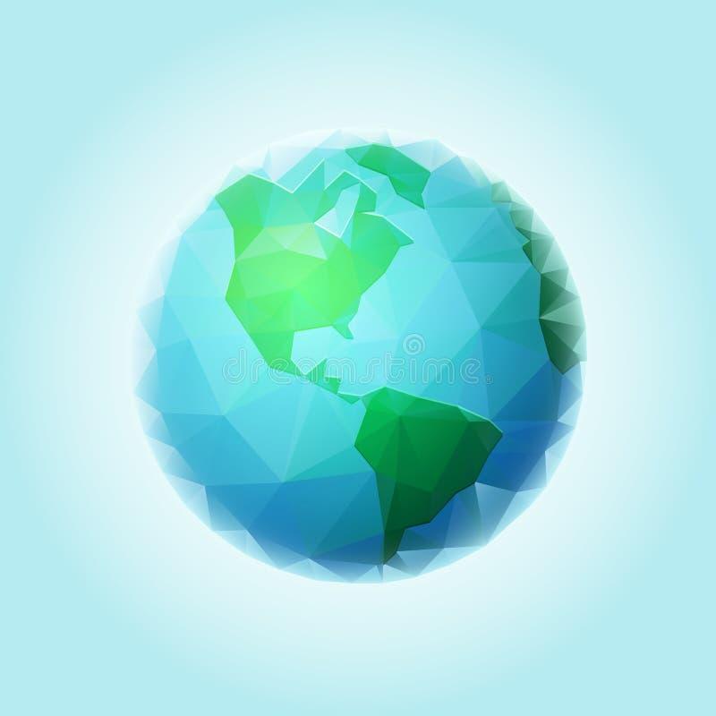 Sphère polygonale du monde illustration libre de droits