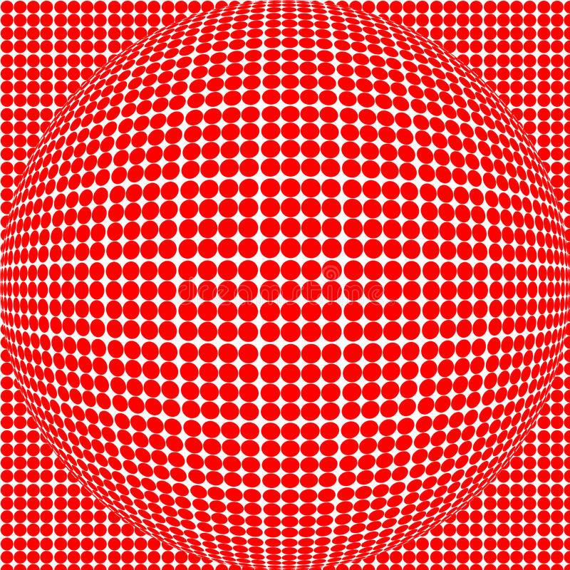 Sphère rouge de point images stock