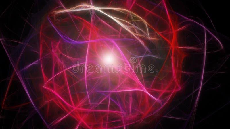 Sphère rougeoyante d'énergie abstraite illustration de vecteur