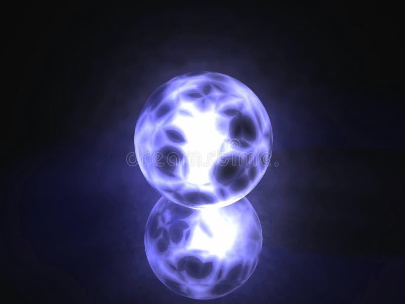 sphère rougeoyante d'objet remplie par énergie illustration de vecteur