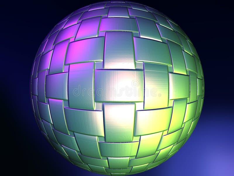 Sphère tissée illustration de vecteur